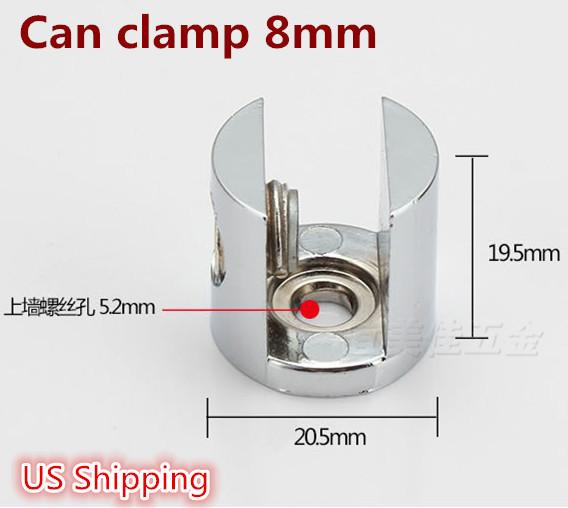 US Shipping 4pcs Adjustable Metal Shelf Holder Bracket Support For Glass or Wood Shelves(China (Mainland))