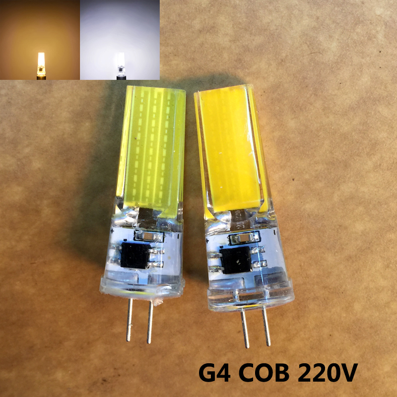 LED G4 Lamp Bulb AC 200V 220V 240V Dimmer 9W COB SMD LED Lighting Lights replace Halogen Spotlight Chandelier 10pcs/lot(China (Mainland))