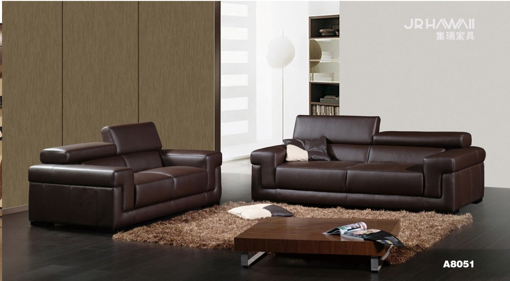 Cow genuine real leather sofa set living room sofa for Sectional sofa set up