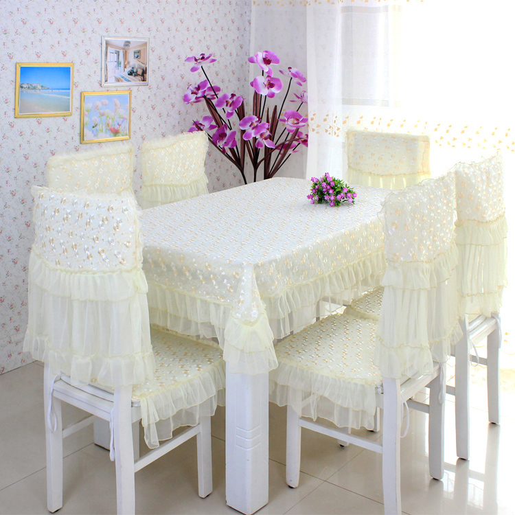 two color quality fashion lace cloth dining table cloth