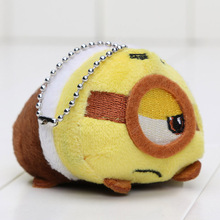 3.5'' Tsum Tsum Plush doll Duck toys Cute doll Screen Cleaner Mermaid min toy inside out despicalbe me keychain plush toy(China (Mainland))