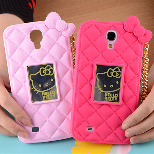 Phone Protective Cases Cover Cartoon Hello Kitty Soft Rubber Silicone Case For Samsung Galaxy Mega 6.3 I9200(China (Mainland))
