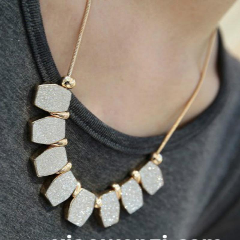 2016 New Fashion Elegant Necklace Women,Unique Irregular Shape Matte Polish Pendant Necklaces,Long <font><b>Neckless</b></font> Women <font><b>Neckless</b></font> Men