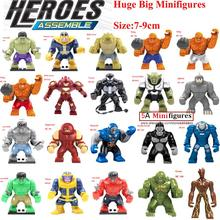 Single Sale Large Minifigures Marvel Super Heroes Avengers Thanos Hulk Venom Ironman Building Blocks Bricks Toys children - 5A Top Service Provider store