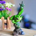 Resin Animal Statues Frog Creative Fairy Ornaments Garden Statues Craft Zakka Resin Sculpture Cute Frog Resin