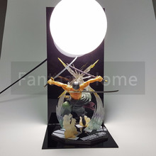 One Piece Action Figure Roronoa Zoro PVC DIY Display Santoryu Skill Model Toy Anime +Ball+Base - Fantasy-Home store