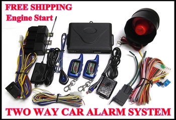 12V Two Way Car Alarm/Auto security System BH-018 With Engine Start Vibration Wake-Up 2pcs LCD Remoter 1000 Meter Free Shipping!