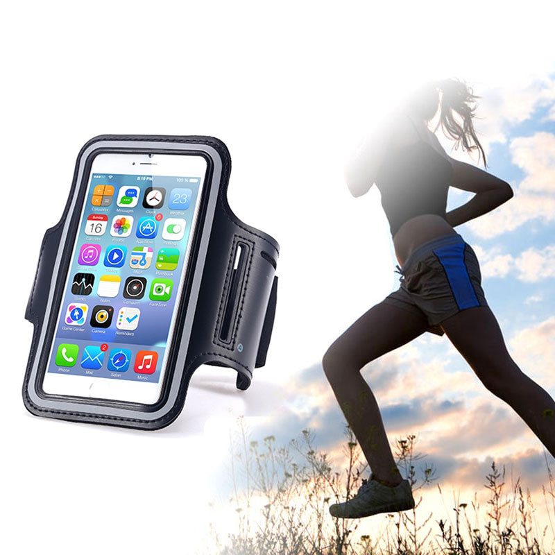 Waterproof Gym Sport Running Jogging Pouch Arm Band Leather Phone Case Cover for Samsung Galaxy S5 S6 S7 Cellphone Bags(China (Mainland))