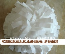 "Pom poms cheerleading poms  6"" wet plastic white custom color handmade new hot sale mini order 10 pieces(China (Mainland))"