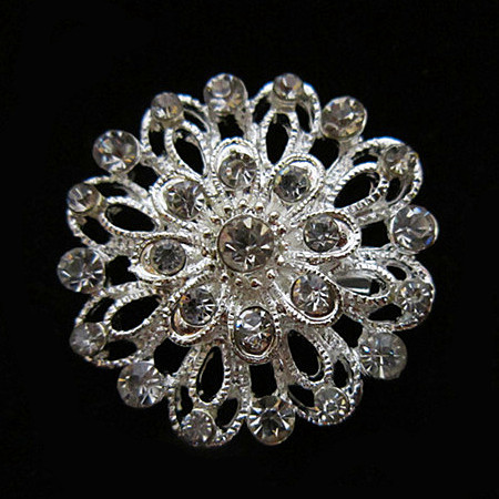Silver Clear Crystal Brooch Small Flower Rhinestone Brooches Bouquet For Wedding Women Jewelry(China (Mainland))