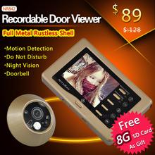 Ir video infrarrojos mirilla puerta del ojo visor de la cámara con función de timbre