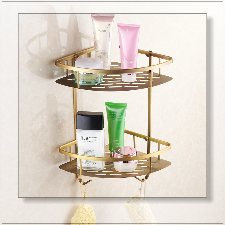 Model  BasketShelvesBathroomAccessoriesTriangleDoubleBathroomShelf515