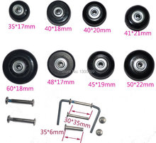 Replacment Spinner luggage wheels Diameter 45*19MM with Axles 4 Pcs(China (Mainland))