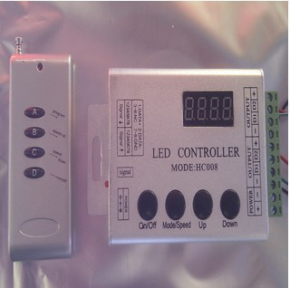 HC008 led pixel controller,LED Digital controller for WS2811 WS2801 TM1803 TM1804 TM1809 UCS1903 etc,with133 programs buit-in(China (Mainland))