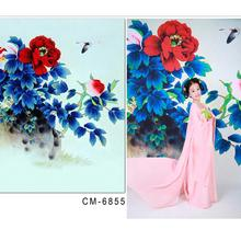 Baby Background For Photo Studio Color Hand-Painted Peony Flower In Full Bloom Fundo Fotograficos Infantil