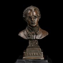 Best selling  Famous man figure sculpture Bust Bronze figurine  Statue Art Craft Souvenirs czs-306