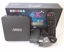 Android M8S XBMC Quad Core Smart IPTV TV Box with Chinese HK Malaysia IPTV APK TVB MBC 1 year APK Built-in 3D*4K TV Box