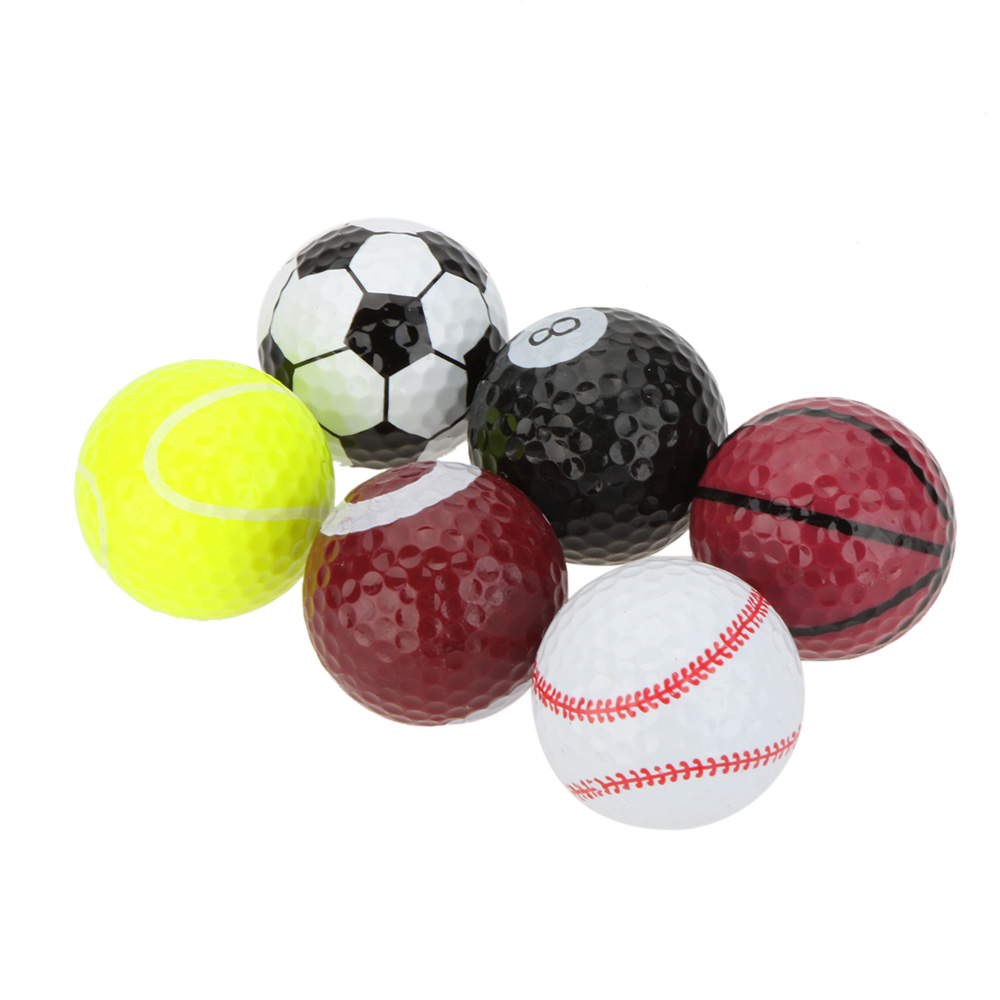 6pcs Sports Golf Balls Novel Double Ball Two Piece Ball Golf Equipment(China (Mainland))