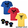 Pokemon Go Team T shirts Women s Cotton Shorts Sleeve Summer Female Tops Tees Casual shirts