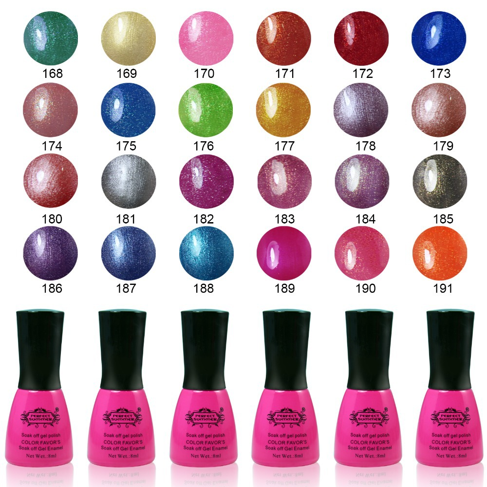 Perfect Summer UV Gel Soak off Nail Gel Polish 8ml LED UV Nail Gel Long Lasting Hot Sale Gel Lacquer DIY Nail Art(China (Mainland))