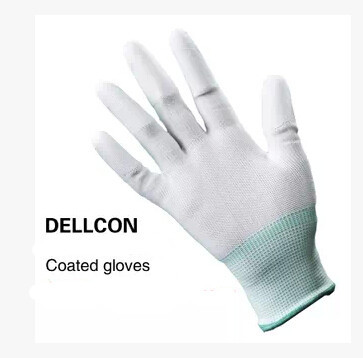 Nylon PU gloves coating safety work gloves 13 knitted cleanness glove cleanroom(China (Mainland))