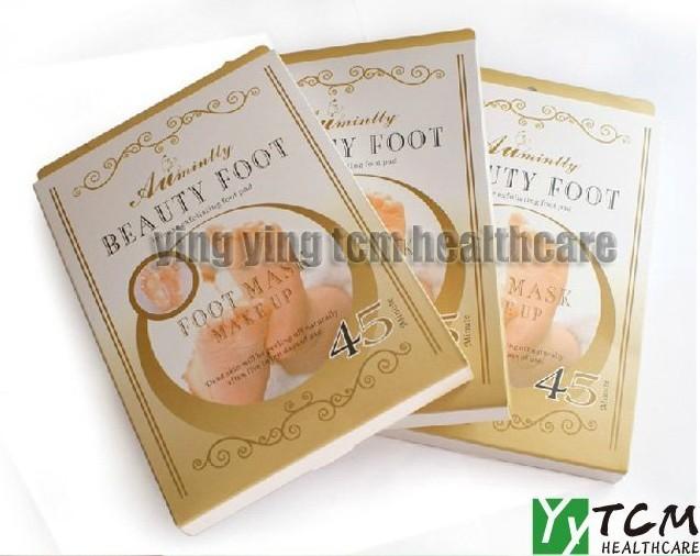 (Gift 5 pairs gold eye mask)+2 pairs Exfoliating Foot Mask foot care mask foot care peeling beauty
