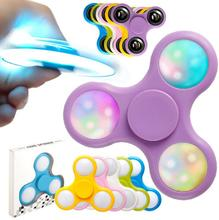 Buy 2017 Hand Spinner Lumineux Led Plastic Clignotant Fidget Spinner Lumiere Grossiste Light Glow Dark Spinner Luminous for $2.49 in AliExpress store