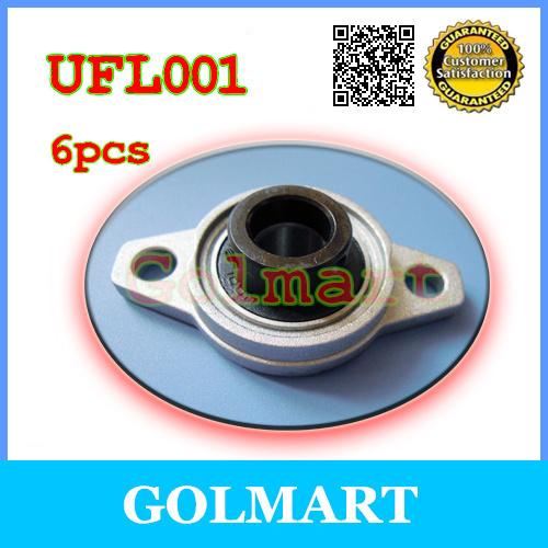12 mm shaft caliber zinc alloy rhombus bearing housing UFL001 Spherical bearing (With eccentric sleeve)(China (Mainland))
