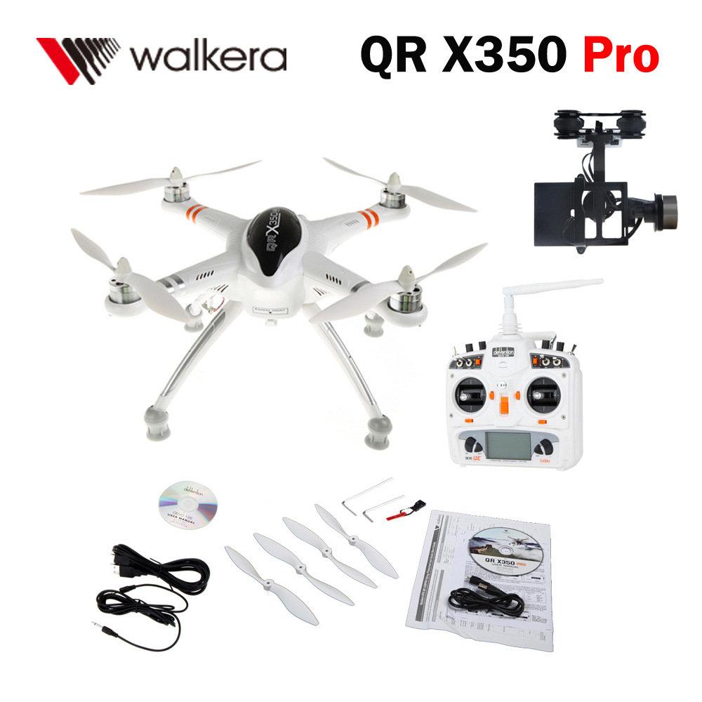 Walkera QR X350 Pro Strong Performance FPV RC Quadcopter Suit 2 with G-2D Brushless Gimbal / DEVO 12E Transmitter Mode 2(China (Mainland))