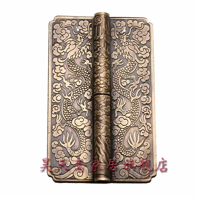 [Haotian vegetarian] Chinese furniture copper fittings / carved hinge / copper hinge / shake skin HTF-054<br><br>Aliexpress