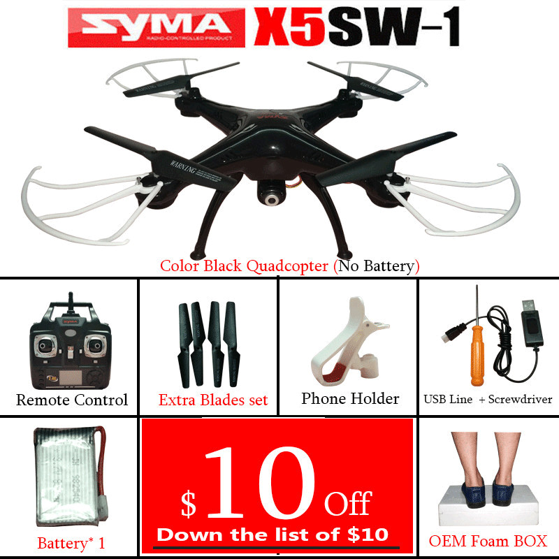 Cheerwing SYMA X5SW X5SW-1 FPV RC Quadcopter Drone with WIFI Camera HD 2.4G 6-Axis Drones RC Helicopter And Down the list of $10(China (Mainland))