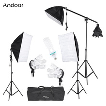 Andoer Photography Studio Lighting Tent Kit Photo Video Equipment Softbox Cantilever Stick Bulb Socket Light Stand Carrying Bag(China (Mainland))