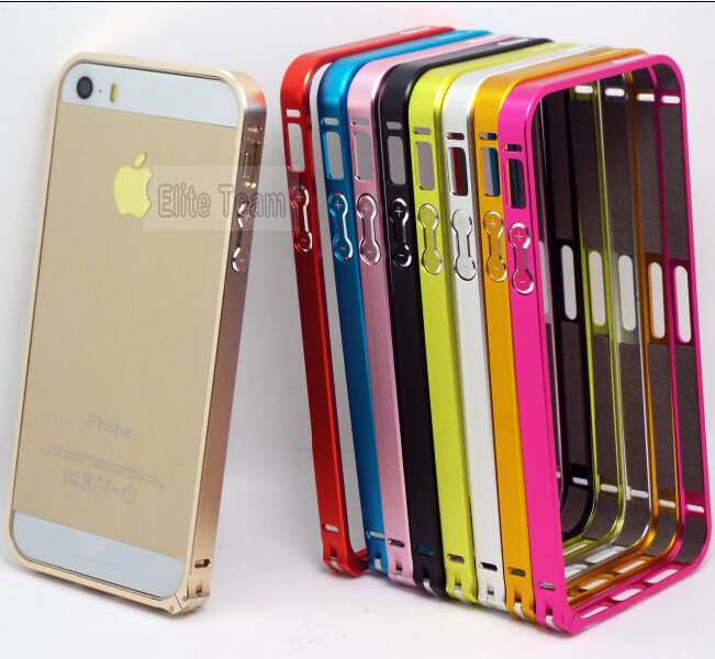 2014! Fashion Style Metal Hard Bumper Frame Cases For iPhone 5 iPhone 5S Case For iPhone5 iPhone5S Cover Phone Protection Shell&(China (Mainland))
