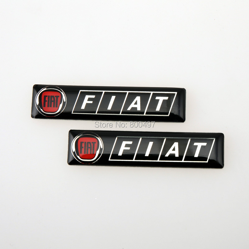 20 x Newest 3D Car Styling Aluminum Glue Decal Car Emblem Car Accessories Adhesive Badge for Fiat 500 500X Tipo Punto(China (Mainland))