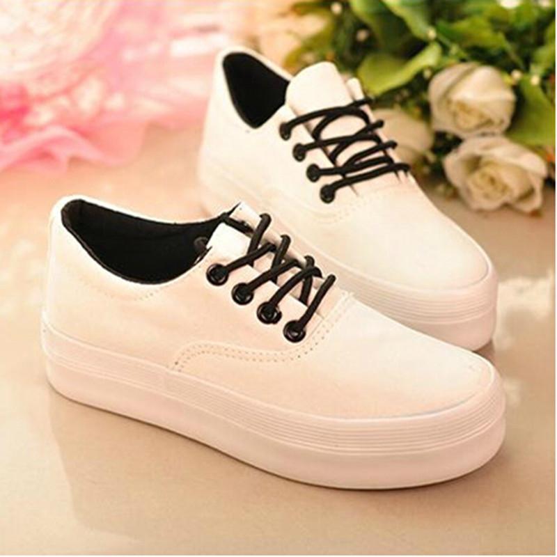 Canvas shoes women chaussure femme 2016 new arrivals casual shoes platform shoes for women