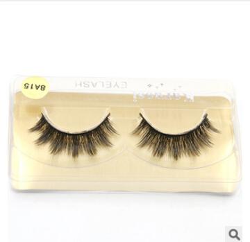 8A15/100%Supernatural Lifelike handmade false eyelash 3D strip mink lashes thick fake faux eyelashes Makeup beauty(China (Mainland))