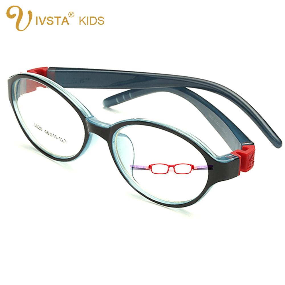 Bendable Rubber Eyeglass Frames : IVSTA Bendable Round Light Child Glasses frame kids frames ...