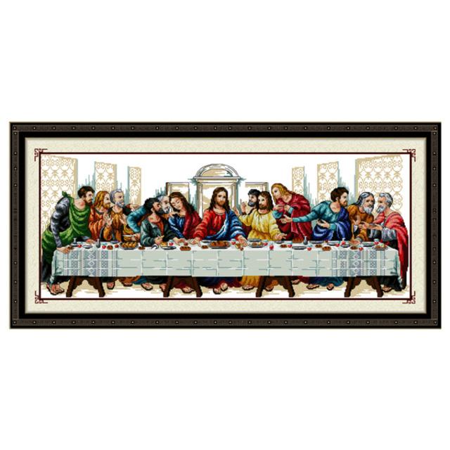 Diy рукоделие ручной вышивки крестом комплект вышивка печатные иисус христос кросс-колющие тайная вечеря домашнего декора