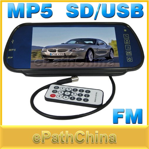 Car Parking Assistance Car Rear View Camera Reverse Monitor Support MP5 SD/USB FM Radio DVD, 7'' TFT LCD Touch Screen(China (Mainland))
