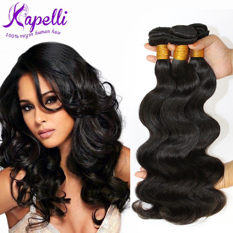 Brazilian Virgin Hair Body Wave 3Pcs/lot Unprocessed 7A Virgin Brazilian Hair Weave Bundles Body Wave Human Hair Extensions Soft