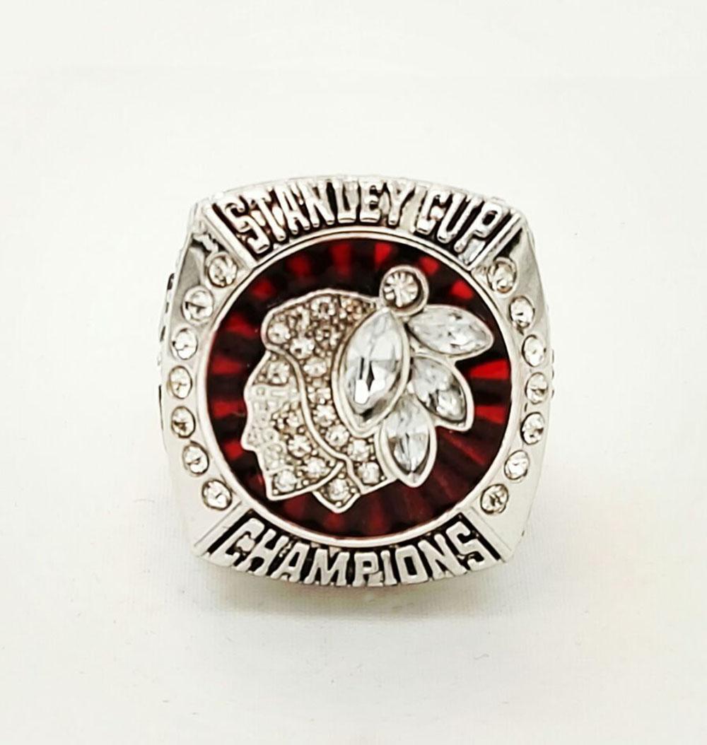 Factory Direct Sale Good Quality 2013 Ice Hockey Chicago Black Hawk Championship Rings(China (Mainland))