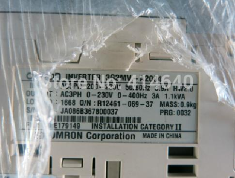 3G3MV-A2004 inverter industrial VFD frequency AC drive Used with 60days warranty(China (Mainland))