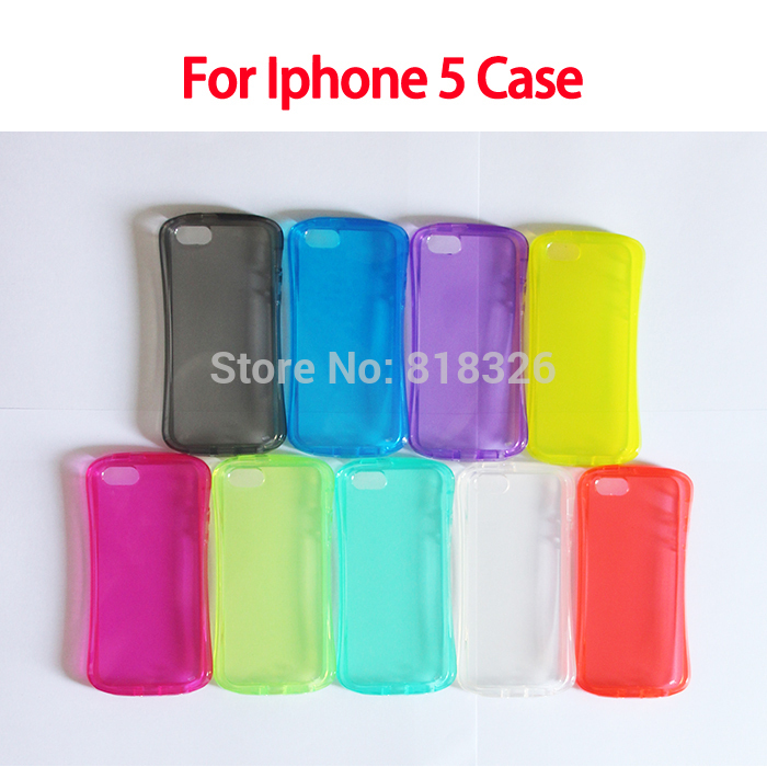 shock proof simple smooth case Slim Waist Candy 9 colors cover case 30g/pcs for Iphone 5 5S good quality(China (Mainland))