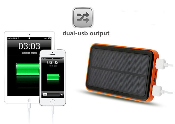 2016 New solar battery power bank 9800mah waterproof bateria externa solar charger for a for all mobile phone Powerbank(China (Mainland))