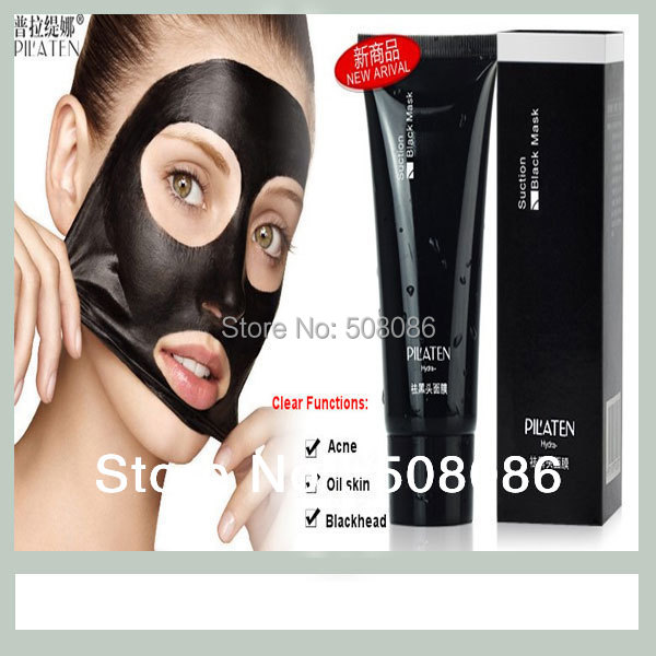 Fast Shipping PILATEN Deep Cleansing peel off Blackhead Remove mud Facial face mask New oil Acne remover black mask Skin care(China (Mainland))