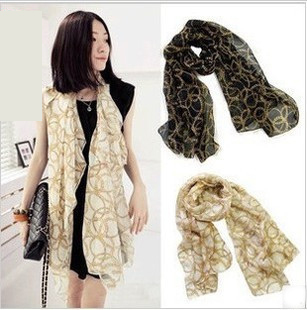 2016 Fashion Female Summer Scarf Chiffon Silk Scarf Transparency Scarf Long Thin Shawl For Women WT063(China (Mainland))