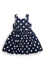 British Style baby girls sundress cotton casual dress next clothing style blue dresses white spot vest