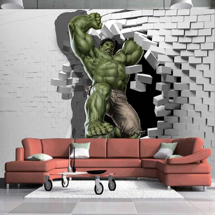 3d avengers photo wallpaper custom hulk wallpaper unique for How to design a mural