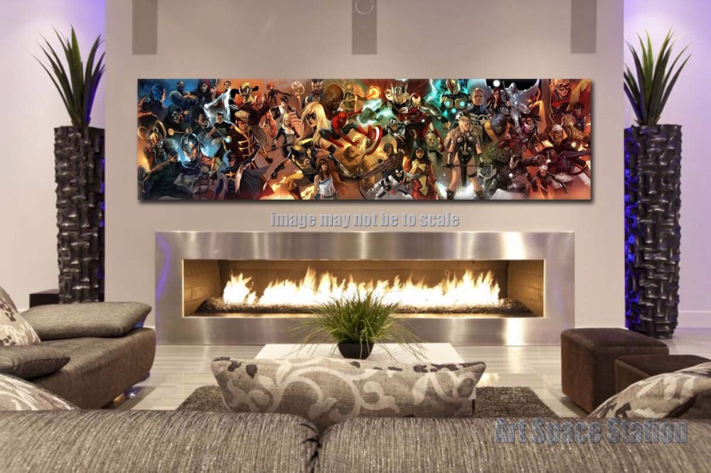 buy avengers superhero marvel comics movie poster print 60x16inch giant canvas. Black Bedroom Furniture Sets. Home Design Ideas
