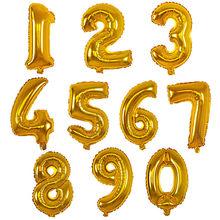 32 אינץ גדול מספר בלוני תינוק מקלחת הליום רדיד בלון זהב כסף ורוד אדום כחול ספרות Globos יום הולדת מסיבת חתונה בלון(China)